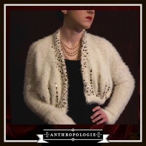 Anthroplogie Knitted & Knotted Cropped Cardigan
